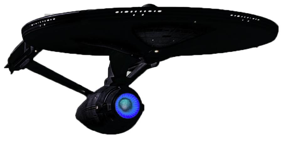 200925 starship enterprise in black